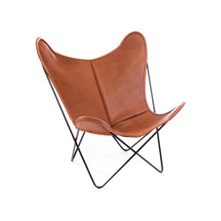 Hardoy Butterfly Chair Biobüffel Cognac | Fauteuils d'attente | Manufakturplus
