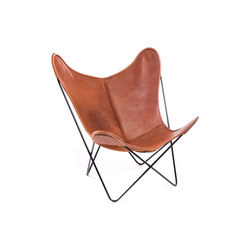 Hardoy Butterfly Chair Biobüffel Cognac | Lounge chairs | Manufakturplus