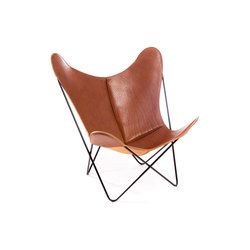 Hardoy Butterfly Chair Sattel-Leder Cognac | Lounge chairs | Manufakturplus