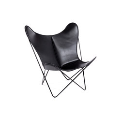 Hardoy Butterfly Chair Blank-Leder Schwarz | Lounge chairs | Manufakturplus
