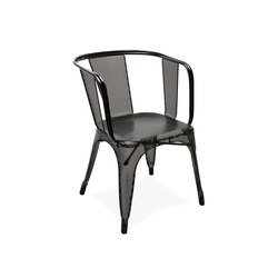 Perforated D armchair RAL 9005 | Multipurpose chairs | Tolix