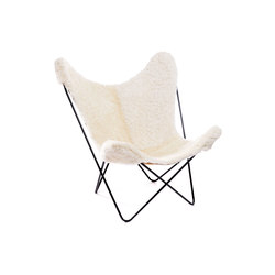 Hardoy Butterfly Chair Schaffell Weiß 30 mm | Lounge chairs | Manufakturplus
