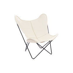 Hardoy Butterfly Chair Neck-Leder Elfenbein | Lounge chairs | Manufakturplus