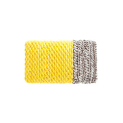 Mangas Space Cushion Plait Yellow 1 | Coussins | GAN