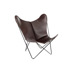Hardoy Butterfly Chair Blank-Leder Braun | Fauteuils d'attente | Manufakturplus