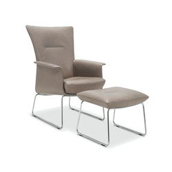 Aida Armchair with footstool | Poltrone | Jori