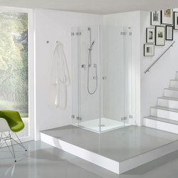 Collection 3 Plus - Swing door corner entry with fixed panel | Shower screens | Duscholux AG