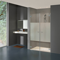 Collection 3 Plus - Swing door 2-panelled in recess | Shower screens | Duscholux AG