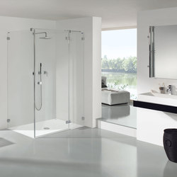 Collection 3 Plus - Swing door with fixed and side panel | Mamparas para duchas | Duscholux AG