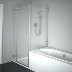 Collection 3 Plus - Swing door with fixed panel and side panel, shortened | Shower screens | Duscholux AG
