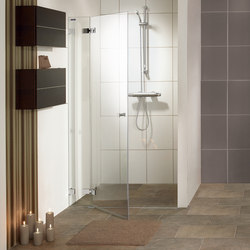Collection 3 Plus - Swing door in recess with fixed pane | Shower screens | Duscholux AG