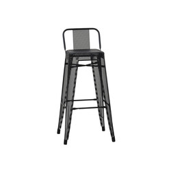 HPD75 Perfo stool with backrest | Bar stools | Tolix