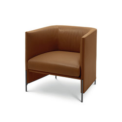 Algon Armchair - Low Backrest Leather Version | Armchairs | ARFLEX