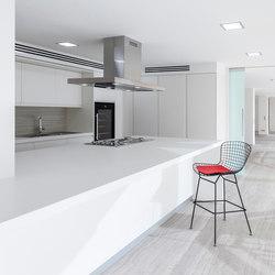 Kitchen | Classtone Strata Argentum & Colorfeel Arctic White | Bodenfliesen | Neolith