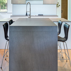 Kitchen | Fusion Basalt Grey & Cement | Lastre | Neolith