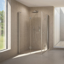 Bella Vita 3 - Pivot folding door corner entry | Shower screens | Duscholux AG