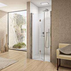 Bella Vita 3 - Pivot folding door in recess | Shower screens | Duscholux AG