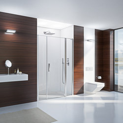 Bella Vita 3 - Swing door in recess with fixed panel and with side panel in line | Mamparas para duchas | Duscholux AG