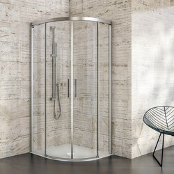 Bella Vita 3 - Round with 2 sliding doors, symmetrical | Shower screens | Duscholux AG