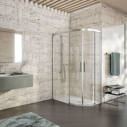Bella Vita 3 - Round with 2 sliding doors, asymmetric | Shower screens | Duscholux AG
