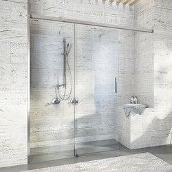 Bella Vita 3 - Sliding door with side panel, shortened, 2-panel | Shower screens | Duscholux AG