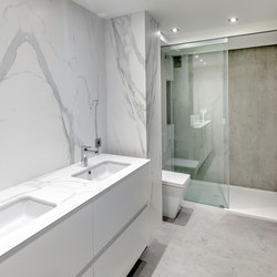 Bath | Fusion Beton & Classtone Estatuario | Ceramic tiles | Neolith