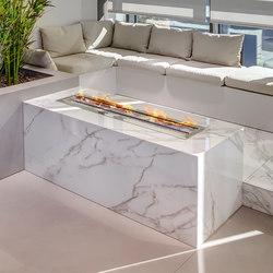 Interior | Classtone Calacatta & Fusion Pietra di Osso, Phedra & Textil White | Kamin Zubehör | Neolith