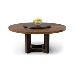 Nexus Round Table With Lazy Susan | Mesas comedor | Altura Furniture