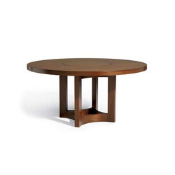 Nexus Round Table With Lazy Susan | Tavoli da pranzo | Altura Furniture