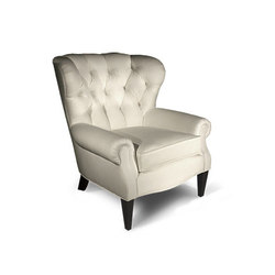 Baxter Tufted Wing Chair | Poltrone | BESPOKE by Luigi Gentile