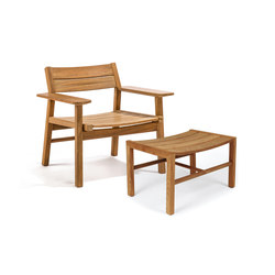 Djurö lounge chair and foot stool | Fauteuils de jardin | Skargaarden