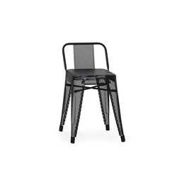 HGD45 Perfo stool with backrest | Sillas de jardín | Tolix