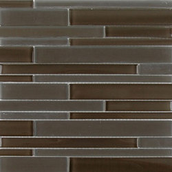 Stagger | Chocolate | Glass mosaics | AKDO