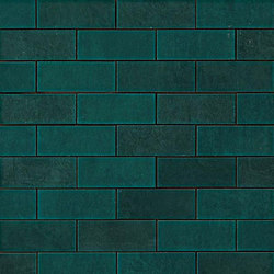 Ewall Petroleum Green Mini Brick | Mosaïques céramique | AKDO