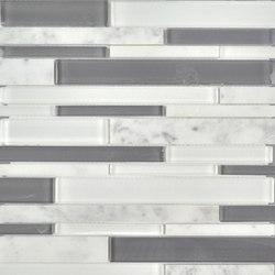 Stagger | Fusion Stagger Carrara Mosaic | Mosaicos | AKDO