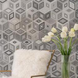 Origami | Large Setsumi Zebra | Azulejos de pared de piedra natural | AKDO
