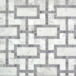 Moment Modern Carrara | Mosaïques en pierre naturelle | AKDO
