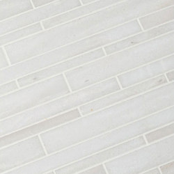 Modern Core Line - White Haze Stagger Mosaic | Mosaïques | AKDO
