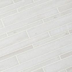 Modern Core Line - White Haze Stagger Mosaic | Natural stone mosaics | AKDO