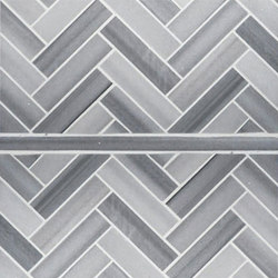 Modern Core Line - Zebra 1x4 Herringbone and Pure Liner | Natural stone mosaics | AKDO