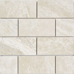 Niobe Beige 2x4 Brick Mosaic | Natural stone mosaics | AKDO