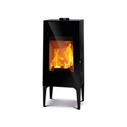 Look | black + steel feet black | Wood burning stoves | Rika