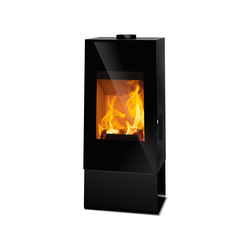 Look | black + steel case black | Wood burning stoves | Rika