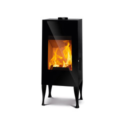 Look | black + cast iron feet black | Wood burning stoves | Rika