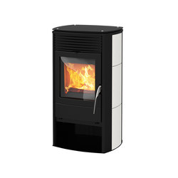 X-Cook | with ceramic casing white | Wood burning stoves | Rika
