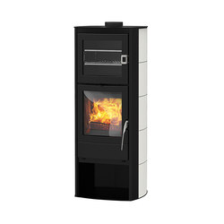 X-Back | with ceramic casing white | Wood burning stoves | Rika