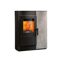 Induo | with steel casing, front soapstone | Soapstone stoves | Rika