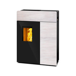 Domo | with white stone casing | Stoves | Rika