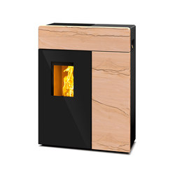 Domo | with sandstone casing | Pellet burning stoves | Rika