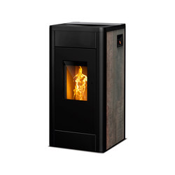 Filo | rust effect metallic | Pellet burning stoves | Rika